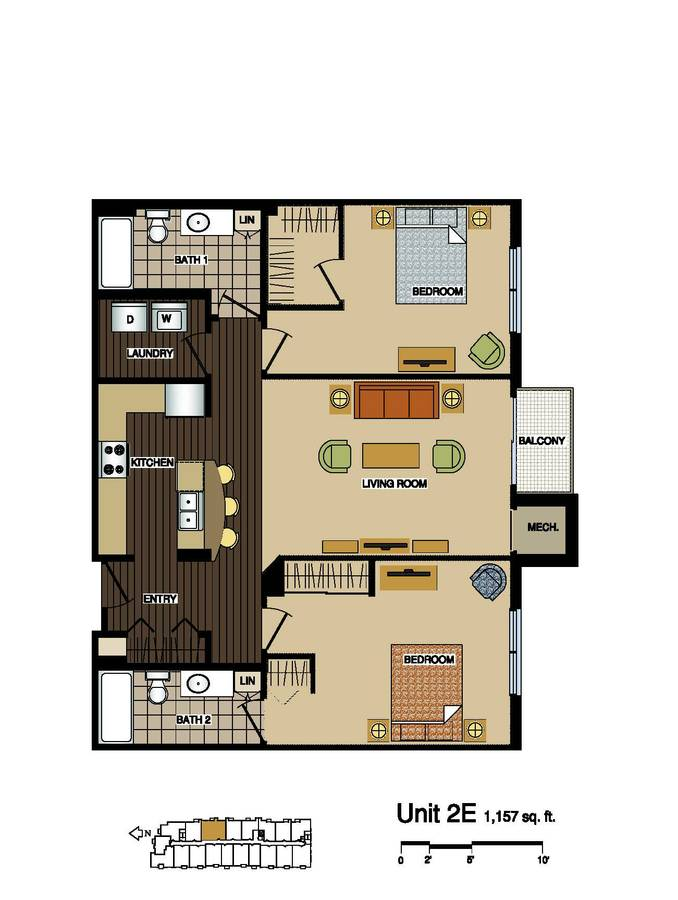 2 Bedrooms 2 Bathrooms Apartment for rent at Station 38 Apartments in Minneapolis, MN
