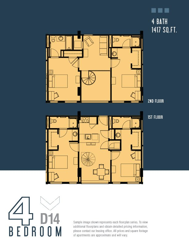 4 Bedrooms 2 Bathrooms Apartment for rent at The Radian in Philadelphia, PA