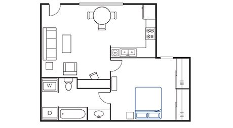 1 Bedroom 1 Bathroom Apartment for rent at Avenue East in Stillwater, OK