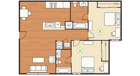 2 Bedrooms 2 Bathrooms Apartment for rent at Reserve On Third in Bloomington, IN