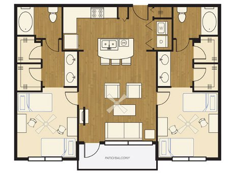 2 Bedrooms 2 Bathrooms Apartment for rent at The Lofts At Wolf Pen Creek in College Station, TX