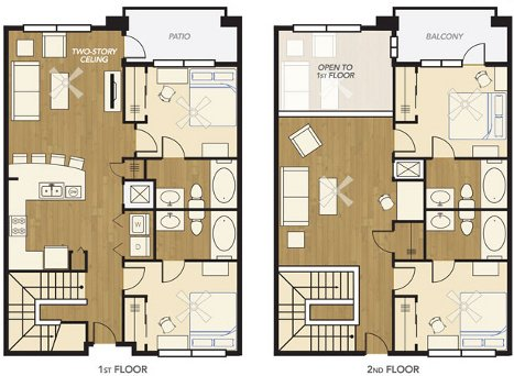 4 Bedrooms 4+ Bathrooms Apartment for rent at The Lofts At Wolf Pen Creek in College Station, TX
