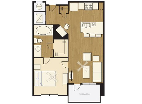 1 Bedroom 1 Bathroom Apartment for rent at The Lofts At Wolf Pen Creek in College Station, TX