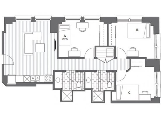3 Bedrooms 2 Bathrooms Apartment for rent at Infinite Chicago in Chicago, IL