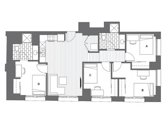 4 Bedrooms 2 Bathrooms Apartment for rent at Infinite Chicago in Chicago, IL