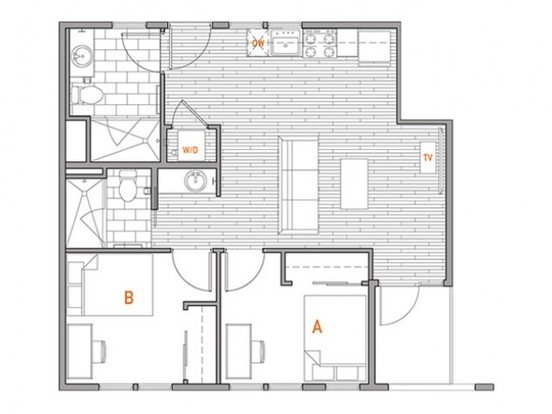 2 Bedrooms 2 Bathrooms Apartment for rent at Liv Seattle in Seattle, WA