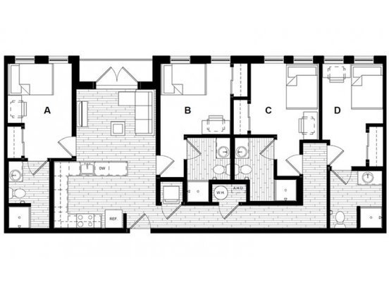 4 Bedrooms 4+ Bathrooms Apartment for rent at Uncommon Athens in Athens, GA