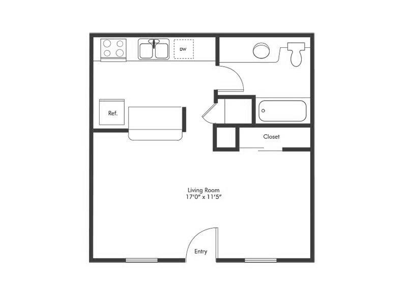 Studio 1 Bathroom Apartment for rent at Solstice Apartment Homes in Las Vegas, NV