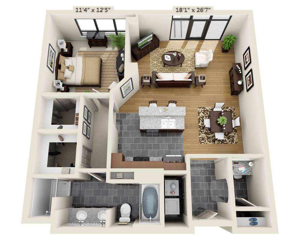 1 Bedroom 1 Bathroom Apartment for rent at Domain Brewers Hill in Baltimore, MD