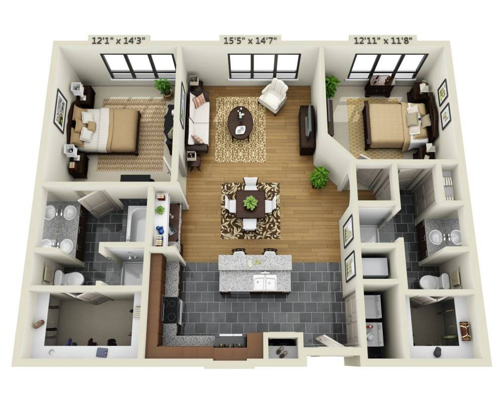 2 Bedrooms 2 Bathrooms Apartment for rent at Domain Brewers Hill in Baltimore, MD