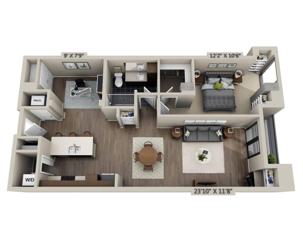 1 Bedroom 1 Bathroom Apartment for rent at Steele Creek in Denver, CO
