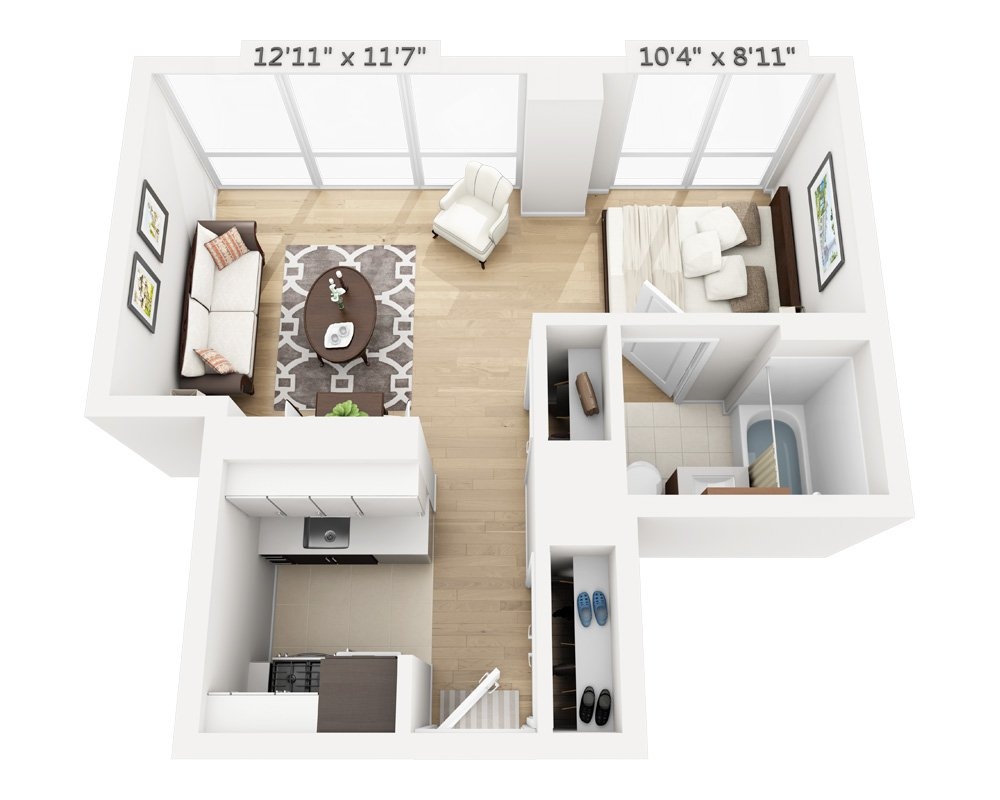 Studio 1 Bathroom Apartment for rent at Columbus Square in New York, NY