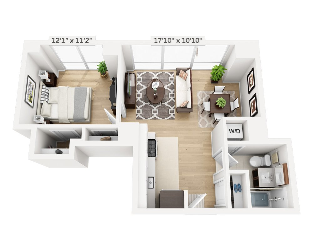 1 Bedroom 1 Bathroom Apartment for rent at Columbus Square in New York, NY