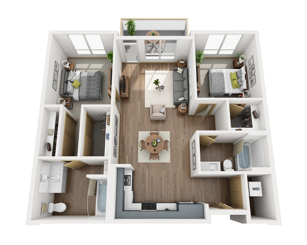 2 Bedrooms 2 Bathrooms Apartment for rent at Cityline in Seattle, WA