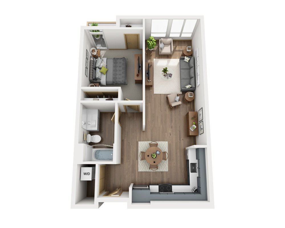 1 Bedroom 1 Bathroom Apartment for rent at Cityline in Seattle, WA