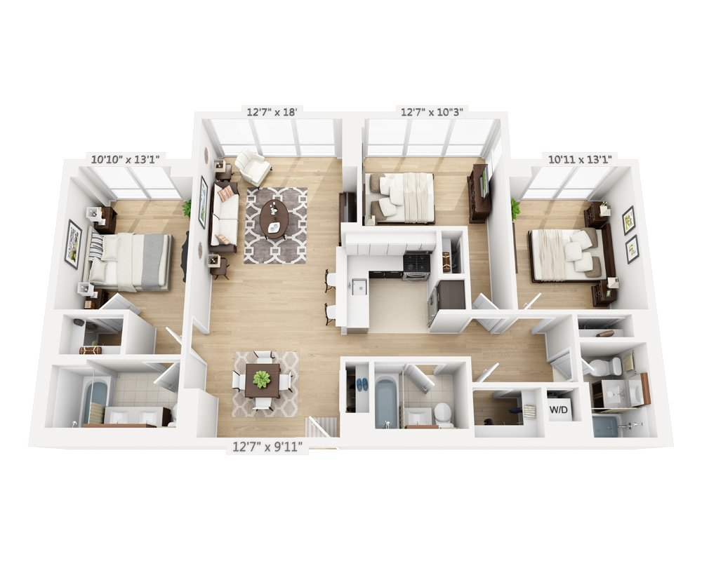 3 Bedrooms 3 Bathrooms Apartment for rent at Columbus Square in New York, NY