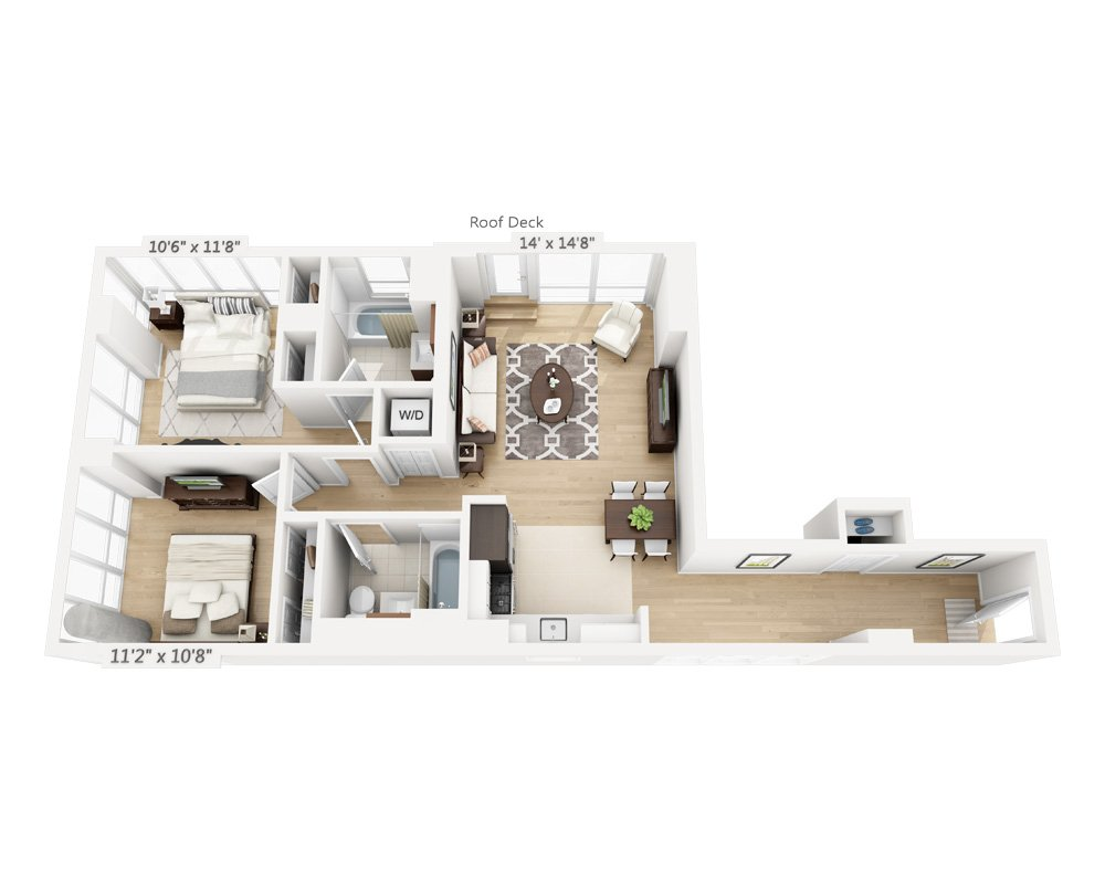 2 Bedrooms 2 Bathrooms Apartment for rent at Columbus Square in New York, NY