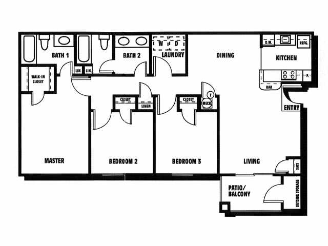 3 Bedrooms 2 Bathrooms Apartment for rent at Gregory Lane in Acworth, GA