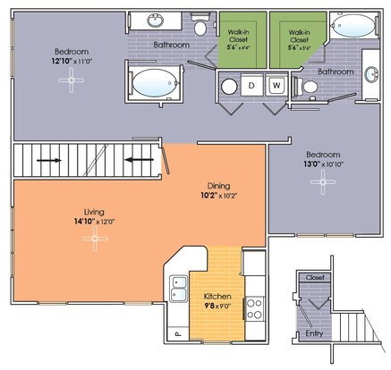 2 Bedrooms 2 Bathrooms Apartment for rent at Cottages On Tazewell in Knoxville, TN