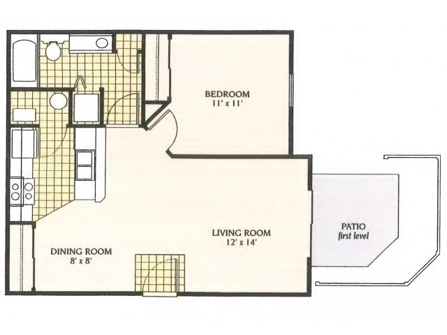 1 Bedroom 1 Bathroom Apartment for rent at The Ridge At Chestnut Hill in Columbus, OH