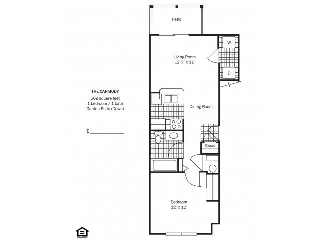 1 Bedroom 1 Bathroom Apartment for rent at Chestnut Hill Apartments in Columbus, OH