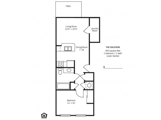 1 Bedroom 1 Bathroom Apartment for rent at Morse Glen in Columbus, OH