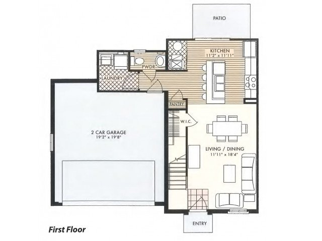 3 Bedrooms 2 Bathrooms Apartment for rent at The Ridge At Chestnut Hill in Columbus, OH
