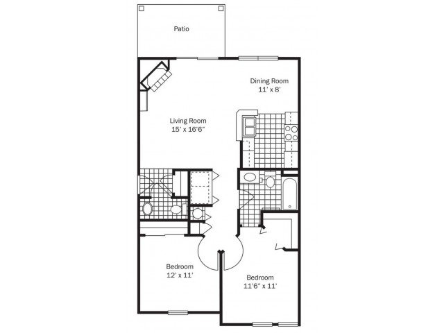 2 Bedrooms 1 Bathroom Apartment for rent at Glenmuir in Columbus, OH