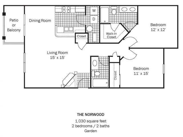 2 Bedrooms 2 Bathrooms Apartment for rent at Chestnut Hill Apartments in Columbus, OH