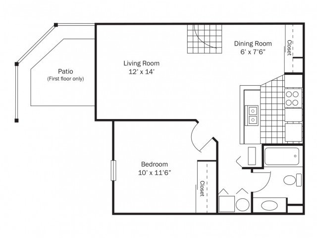 1 Bedroom 1 Bathroom Apartment for rent at Wexford Lakes in Columbus, OH