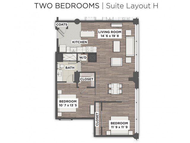 2 Bedrooms 1 Bathroom Apartment for rent at The Julian in Columbus, OH