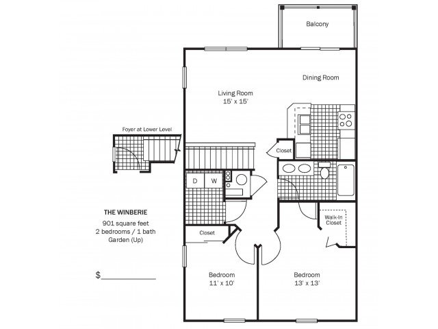 2 Bedrooms 1 Bathroom Apartment for rent at Chestnut Hill Apartments in Columbus, OH