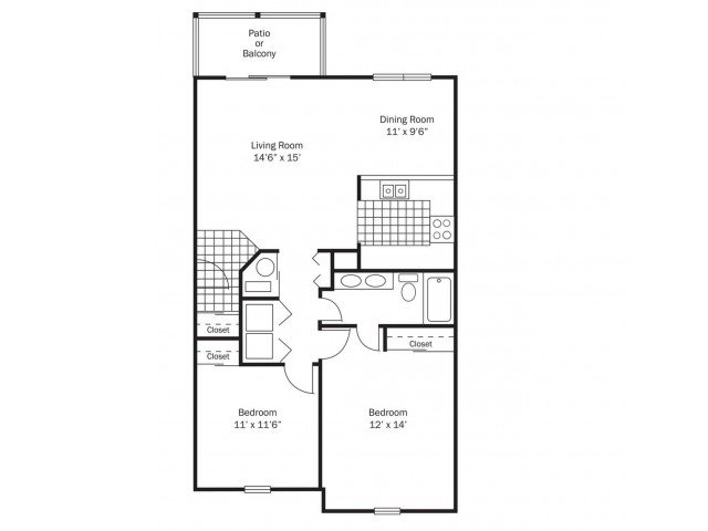2 Bedrooms 1 Bathroom Apartment for rent at Wexford Lakes in Columbus, OH