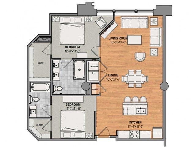 2 Bedrooms 2 Bathrooms Apartment for rent at The Baldwin in Cincinnati, OH