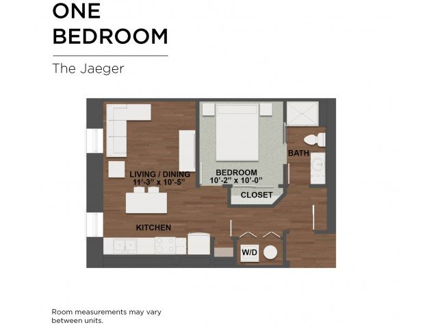 1 Bedroom 1 Bathroom Apartment for rent at The Barrett in Columbus, OH