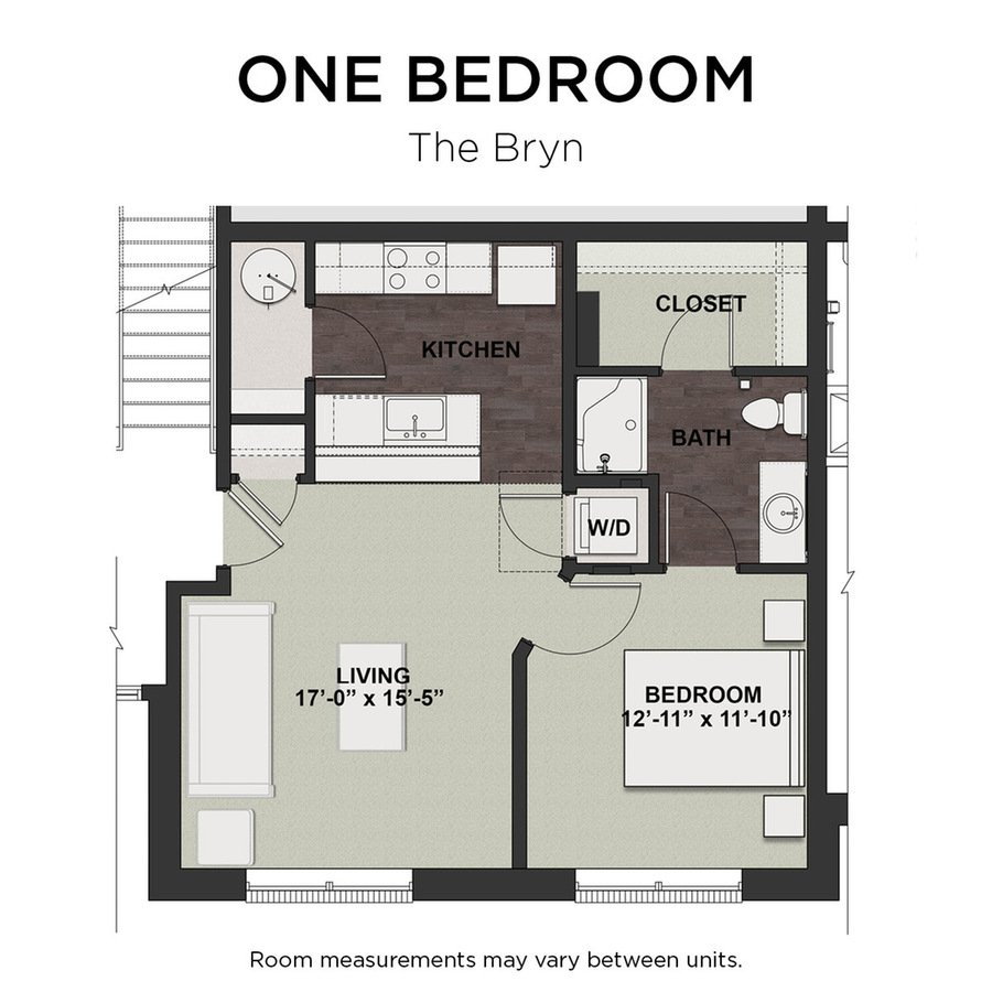 1 Bedroom 1 Bathroom Apartment for rent at Hq Flats in Westerville, OH