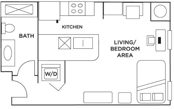 Studio 1 Bathroom Apartment for rent at Grandmarc in Minneapolis, MN