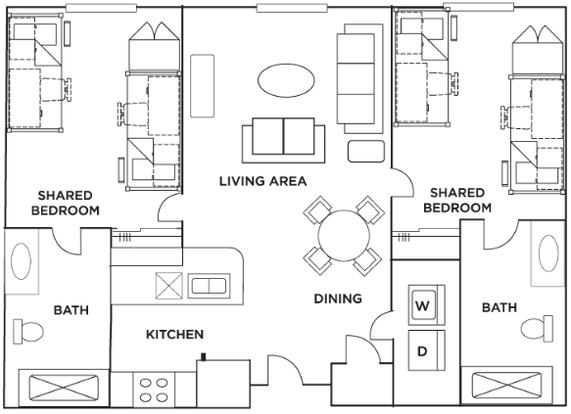 2 Bedrooms 2 Bathrooms Apartment for rent at Grandmarc in Minneapolis, MN