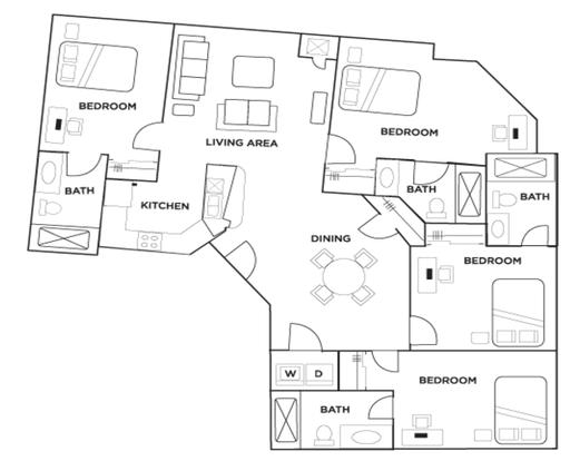 4 Bedrooms 4+ Bathrooms Apartment for rent at Grandmarc in Minneapolis, MN