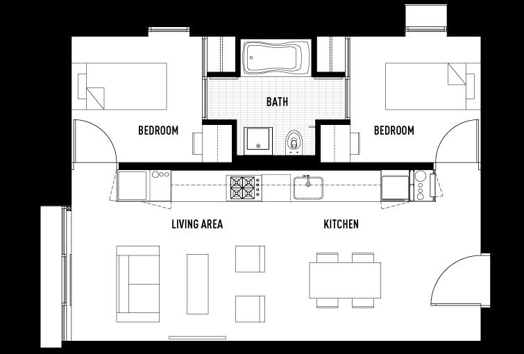 2 Bedrooms 1 Bathroom Apartment for rent at Garden Village in Berkeley, CALIFORNIA
