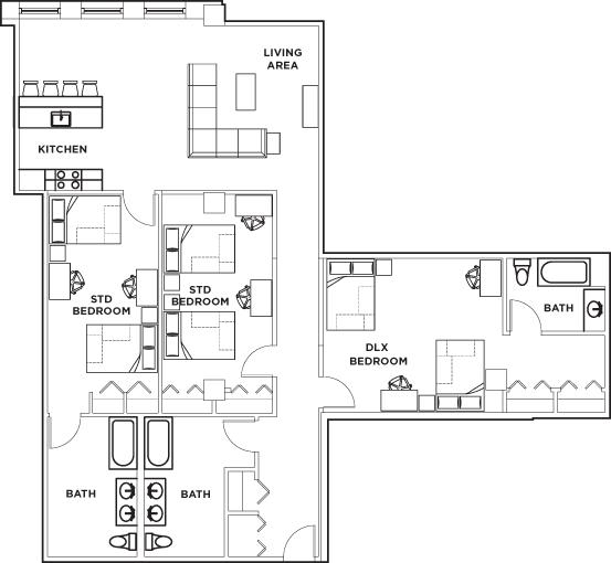 3 Bedrooms 3 Bathrooms Apartment for rent at University Crossings in Philadelphia, PA