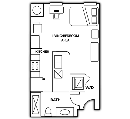 Studio 1 Bathroom Apartment for rent at Grandmarc Seven Corners Student Housing in Minneapolis, MN