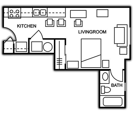 Studio 1 Bathroom Apartment for rent at Olde Towne University Square in Toledo, OH