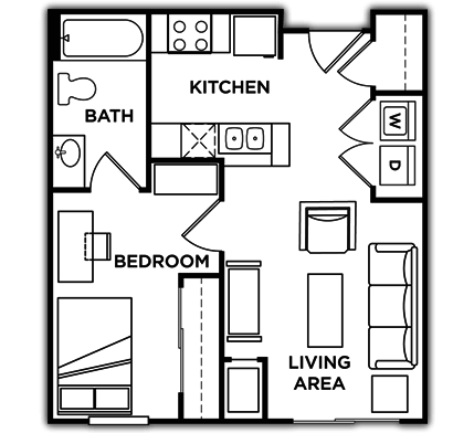 1 Bedroom 1 Bathroom Apartment for rent at University Commons in Minneapolis, MN