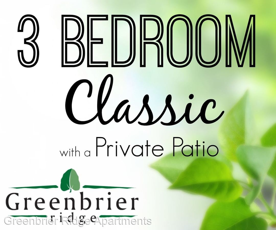 3 Bedrooms 1 Bathroom Apartment for rent at Greenbrier Ridge in Knoxville, TN