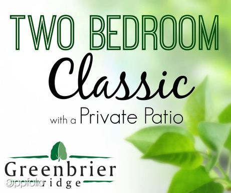 2 Bedrooms 1 Bathroom Apartment for rent at Greenbrier Ridge in Knoxville, TN
