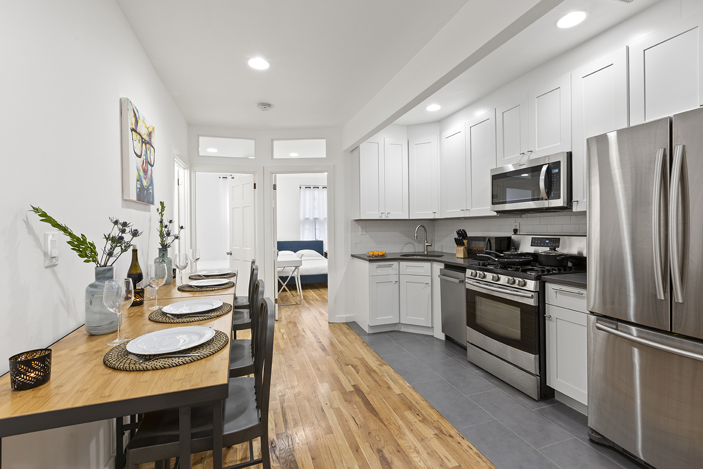 Live at Private Furnished Bedroom In Shared Apartment. Comfortable 4 Bed 2 Bath, Flexible Lease