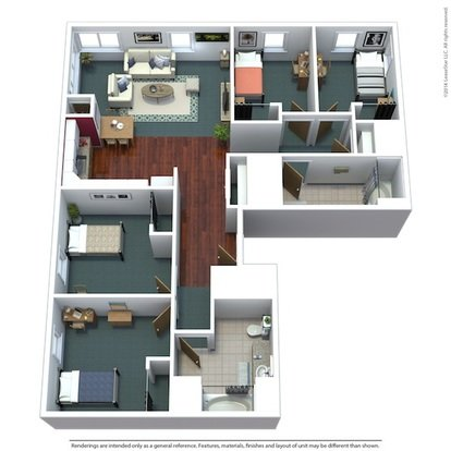 4 Bedrooms 2 Bathrooms Apartment for rent at Titan Court in Eugene, OR