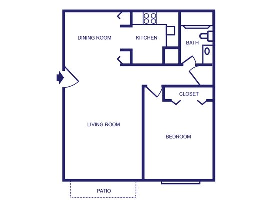 1 Bedroom 1 Bathroom Apartment for rent at Launch Social Living in West Lafayette, IN