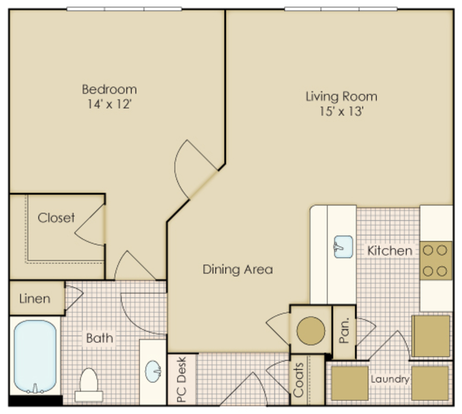 1 Bedroom 1 Bathroom Apartment for rent at Legacy At Wakefield in Raleigh, NC